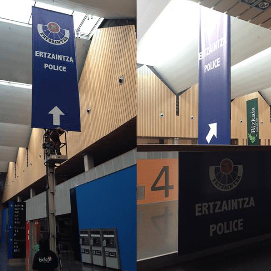 Ertzaintza Police Banderolas