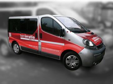 Rotulación de furgoneta Herri Irratia_2