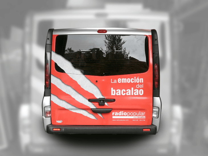 Rotulación de furgoneta Herri Irratia_3