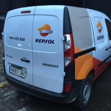 Rotulación de vehículos: Furgoneta Repsol 3