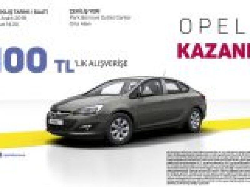 Park Bornova Outlet Center Opel Astra Araba Çekilişi