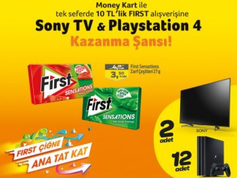 First Sony TV & Playstation 4 Çekilişi