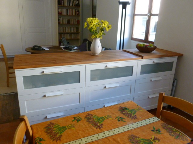 meuble bar cuisine avec rangement