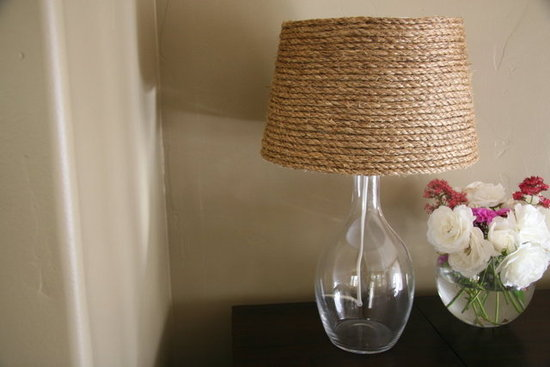 Une Lampe Abat Jour De Corde DIY