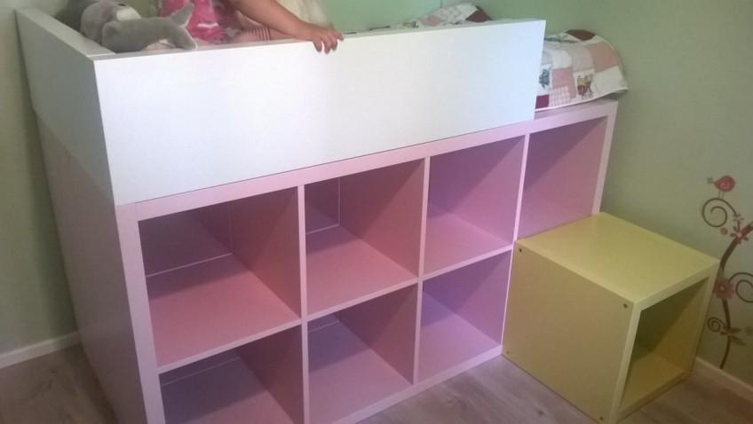 Un Lit Enfant Bibliothque DIY Bidouilles IKEA