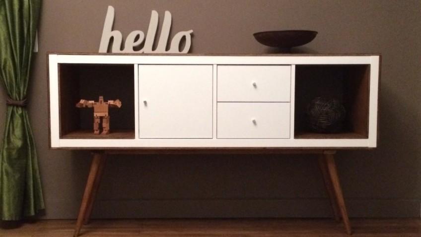 un meuble style annees 50 avec kallax