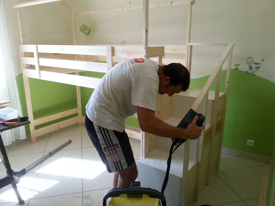 Lit Cabane Sur Une Base Ikea MYDAL