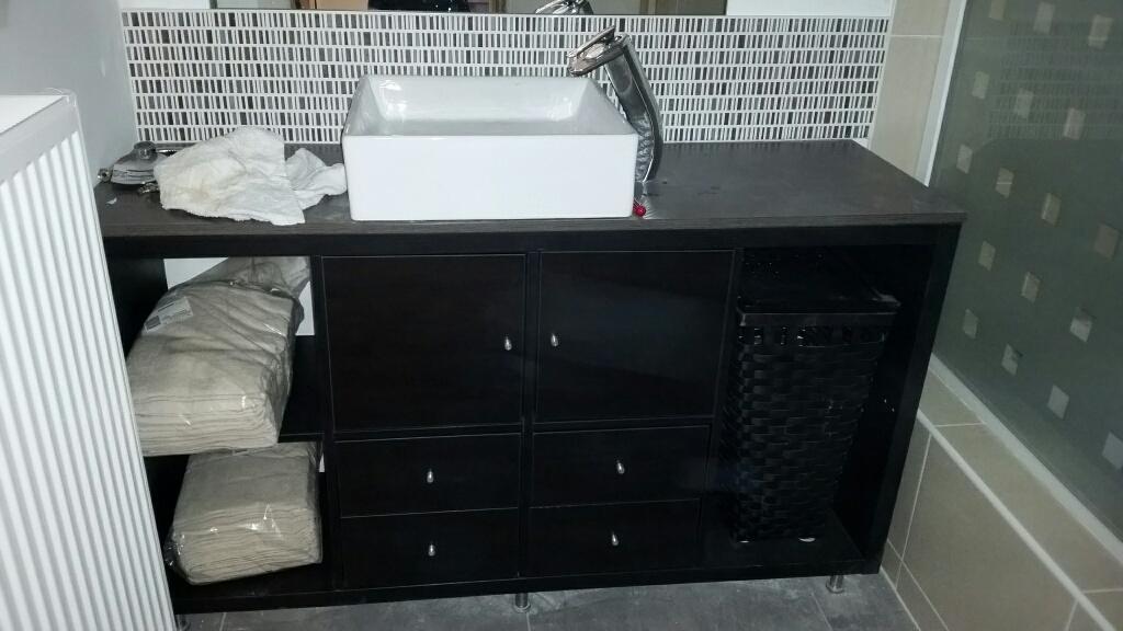 Meuble Diy Ikea Pour Une Petite Salle De Bain