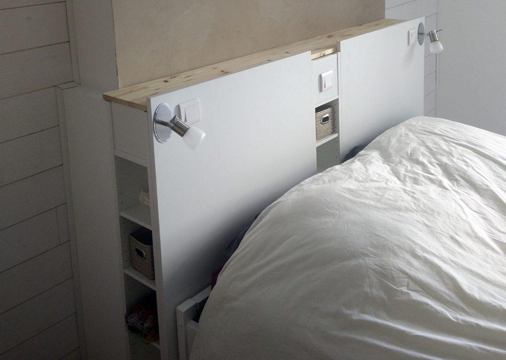 Magnifique Tete De Lit Ikea Avec Rangements En Diy