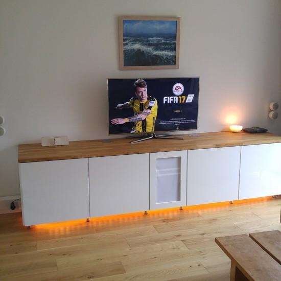 cuisine ikea metod en un meuble audio