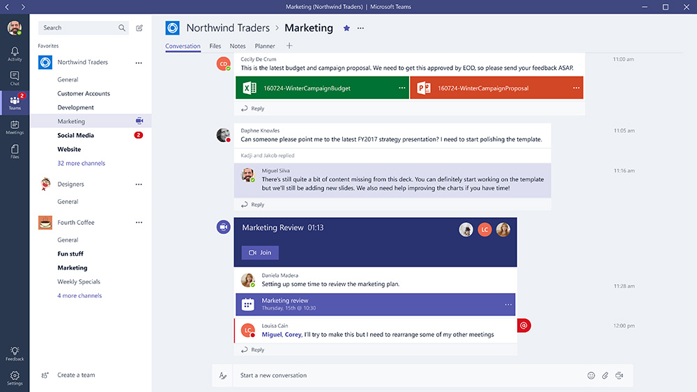 introducing microsoft teams the chat based workspace in office 365