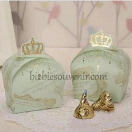 Green Crown Candybox souvenir kotak permen