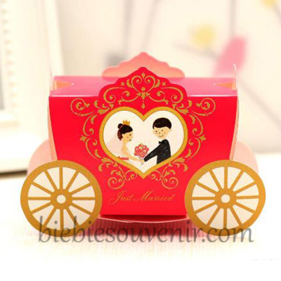 Red Wedding Carriage Candybox