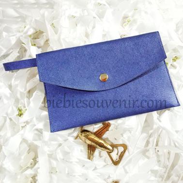 souvenir pernikahan pouch bag navy blue