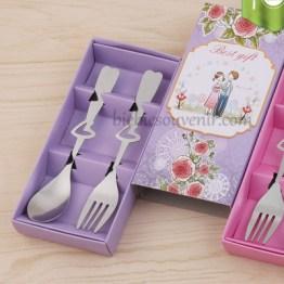 Souvenir pernikahan Sendok garpu murah ungu