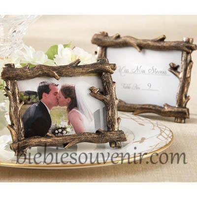souvenir pernikahan bingkai frame rustic treebranch