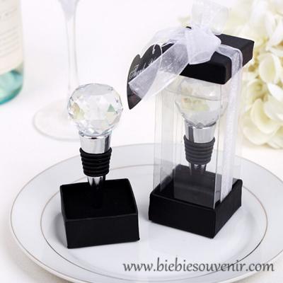 souvenir pernikahan crystal ball wine stopper elegan (8)
