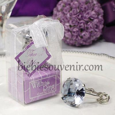 souvenir pernikahan ring keychain unggu gantungan kunci cincin 2