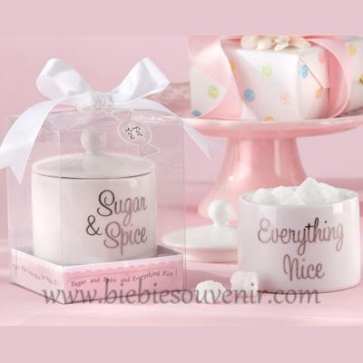 souvenir unik sugar and spice jar tempat gula keramik