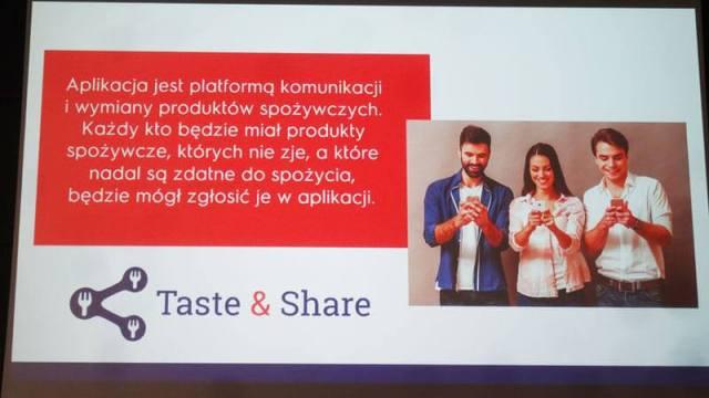 aplikacja taste & share czyli nie marnujmy - dzielmy się jedzeniem