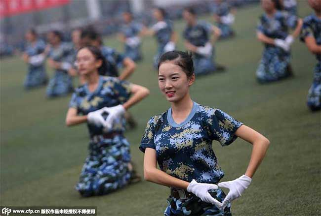 Female Chinese students.
