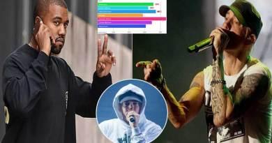 Eminem has intelligent lyrics than Kanye West.