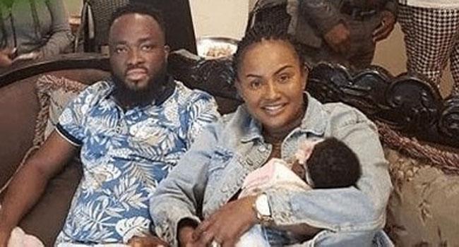 Nana Ama McBrown daughter Maxin Mawushi Mensah and husband Maxwell Mensah.