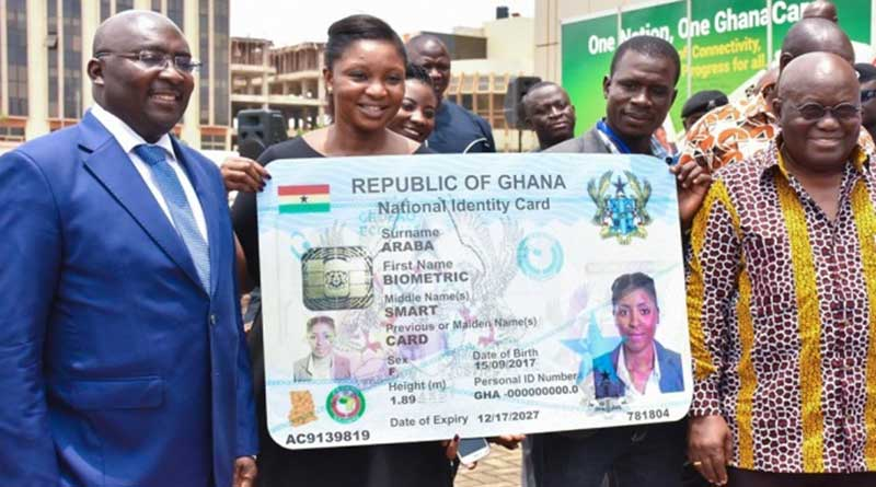 how to apply for Ghana Card online national identification authority NIA.