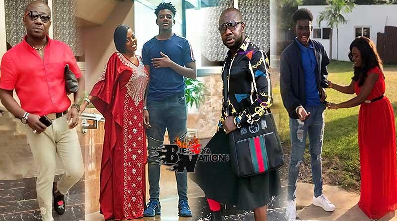 Father of Nana Aba Anamoah son Richard Brown Osebo Zara 247 boutique.