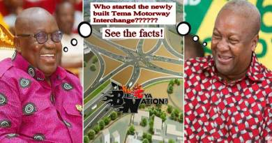 Nana Akufo-Addo vs John Mahama over who built the new Accra-Tema Motorway Interchange.