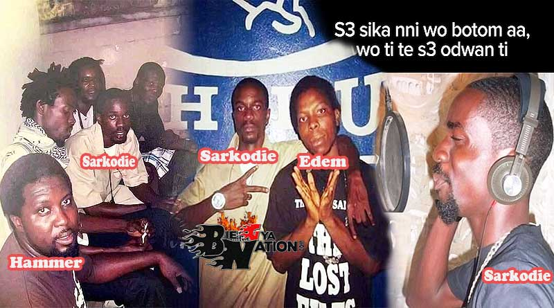 Sarkodie with Hammer the last 2 Edem n Kwaw Kese old photo