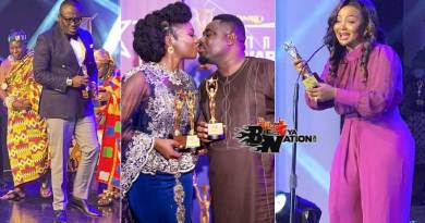 Full list of winners at the 2020 RTP Awards Bola Ray, Stacy Amoateng and husband Quophi Okyeame kissing, Nana Ama McBrown