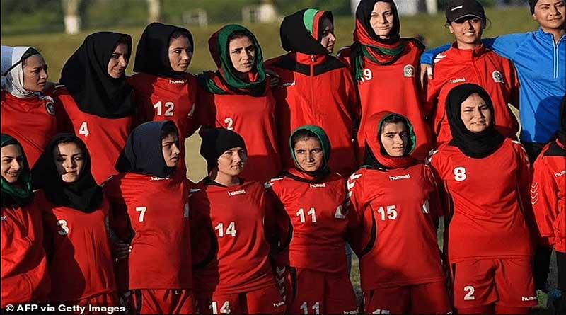 Afghanistan women football team players.