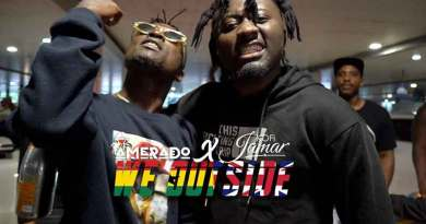 Amerado ft Shatta Wale performing We Outside Music Video directed by Zizy Director, song produced by Izjoe Beatz.