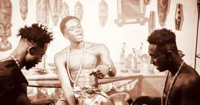 Don Elvi ft Kweku Flick and Yaw Tog performing Yaaba Music Video directed by Mysta Bruce, song produced by Apya.