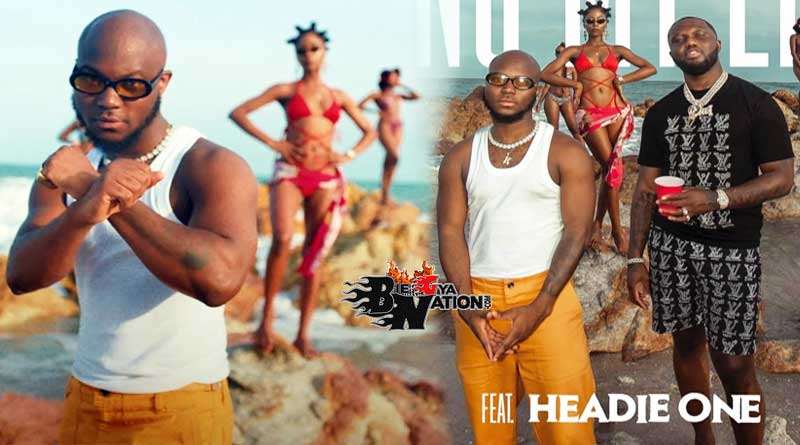 King Promise featuring Headie One performing Ring My Line Music Video.