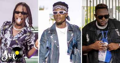 Kweku Darlington ft Laycon and Medikal performing Aketesia Music Video directed by Kofi Awuah II, song produced by Jay Scratch.