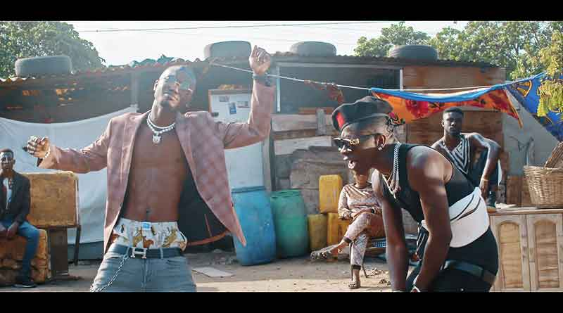 Opanka ft Shatta Wale performing Eka Aba Fie Music Video directed by Bra Shizzle, song produced by MethMix.