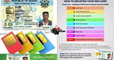 9 easy simpl steps to register sim card with Ghana card.