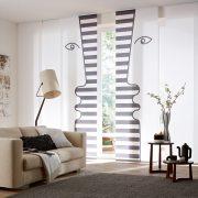 Flächenvorhänge - Wohnzimmer mit Motiv