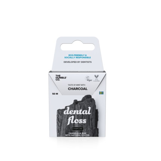 Dental Floss Charcoal Front Packaging
