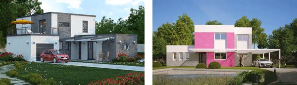 maisons contemporaines avec toit terrasse