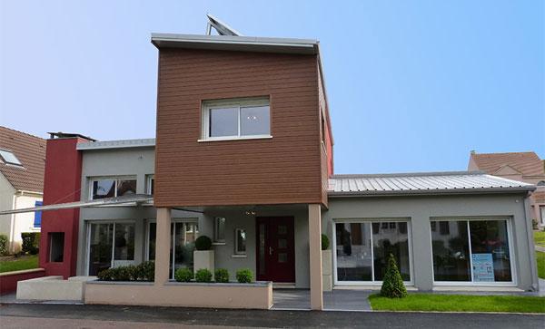 Modèle Quartz réalisé par Maisons Sésame, façade avant