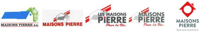 Evolution du logo de Maisons Pierre au fil des ans