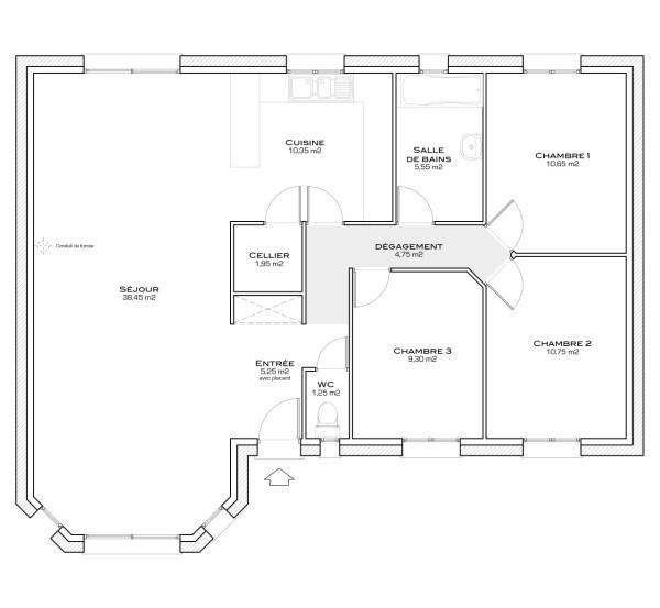 Atami de Terre et Demeure, une maison de plain-pied originale, avec ...