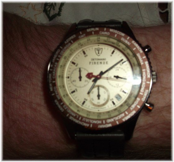 Chronograph am Handgelenk