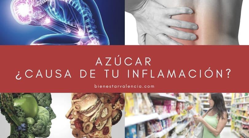 azúcar causa inflamación