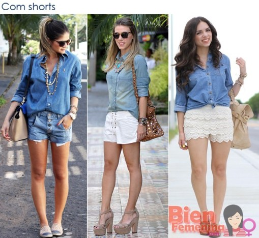 Camisa jeans con short