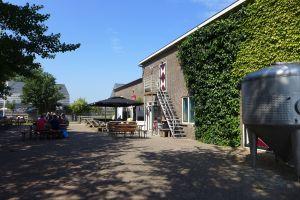 Terras bij het proeflokaal Texelse Bierbrouwerij