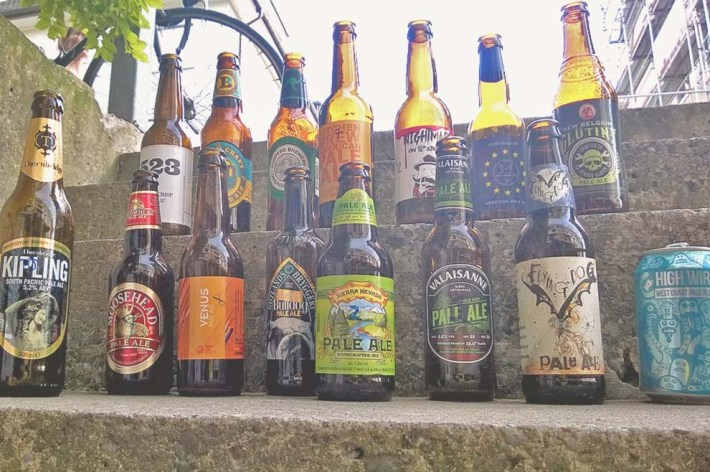 International beers of the style pale ale